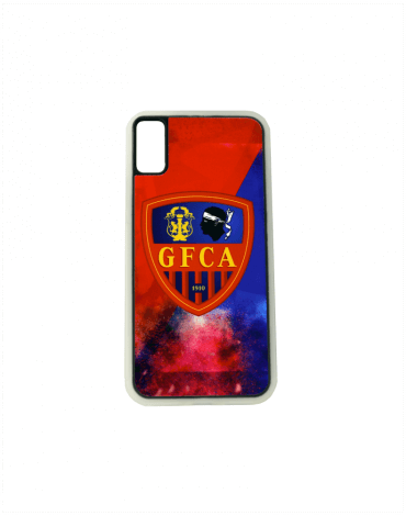 Coque iPhone GFCA - rouge et bleue